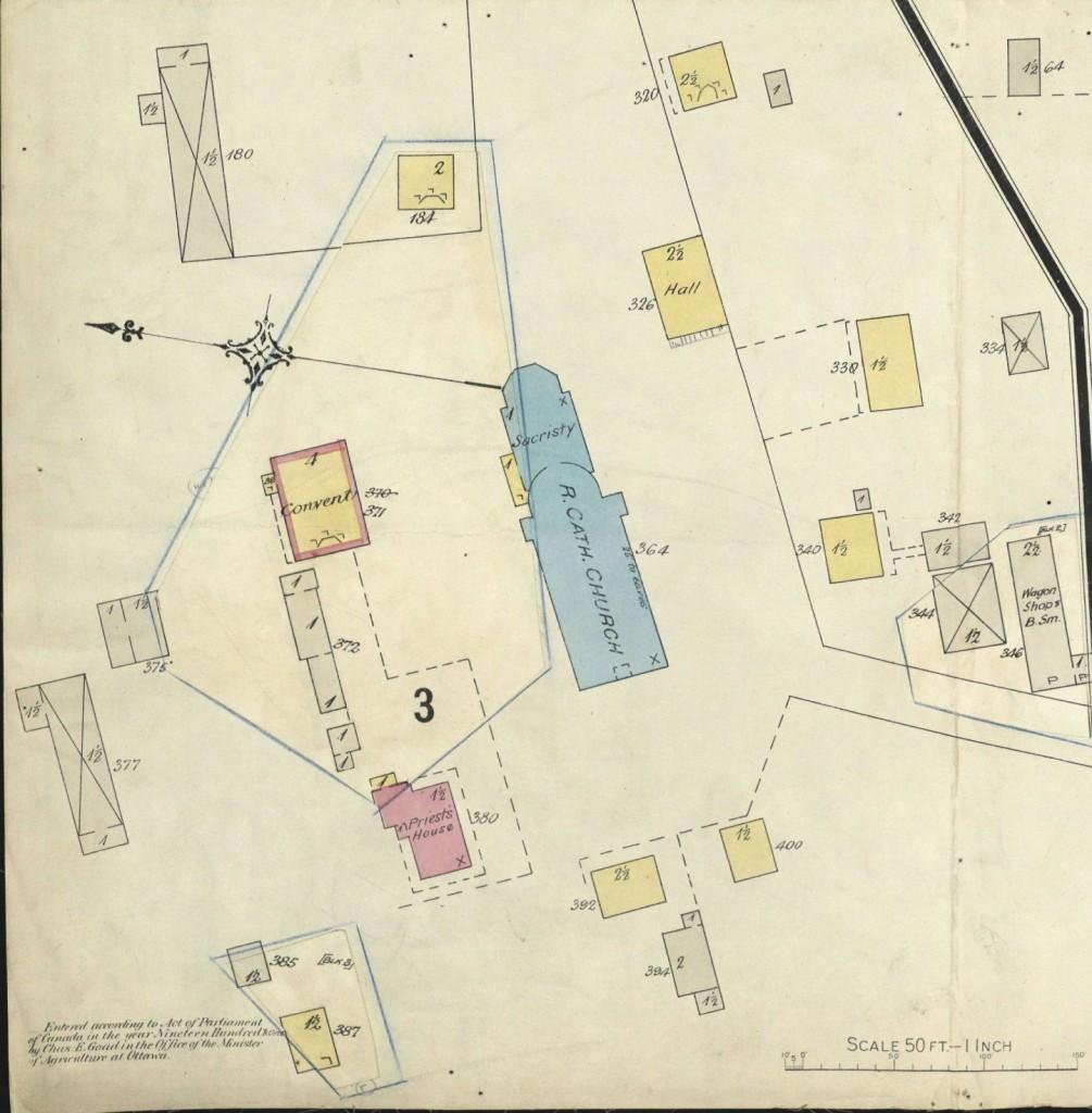 Environs de l'église- Plan-1906