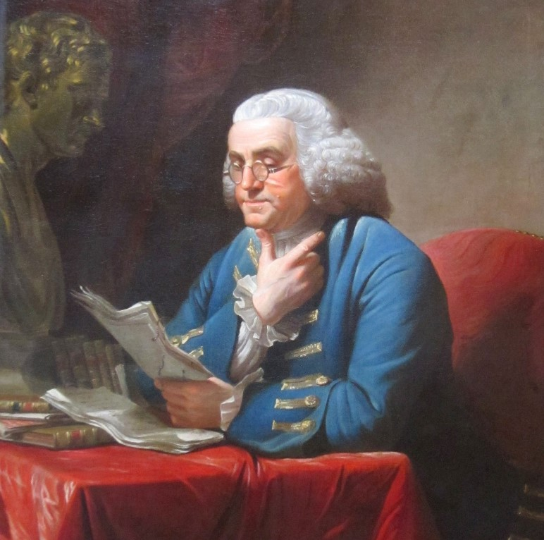 Benjamin_Franklin_with_bust_of_Isaac_Newton_by_David_Martin (2)