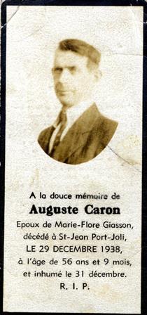 Caron. Auguste Carte-web